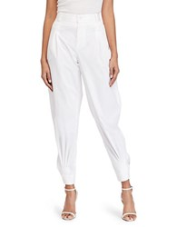 Polo Ralph Lauren High Waist Tapered Pants Pure White