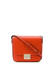 Emporio Armani Push Lock Cross Body Bag Orange