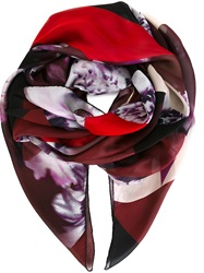 Elie Saab Printed Scarf Red