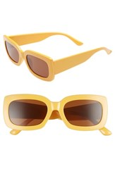 Leith Thick Rectangle Sunglasses Yellow