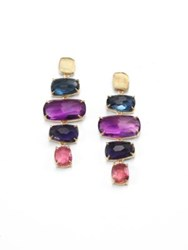 Marco Bicego Murano Semi Precious Multi Stone And 18K Yellow Gold Drop Earrings