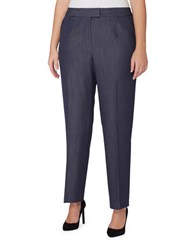 Tahari By Arthur S. Levine Plus Straight Fit Stretchable Pants Chambray