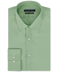 Geoffrey Beene Non Iron Fitted Stretch Sateen Solid Dress Shirt Sprout Green