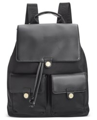 Calvin Klein Dressy Nylon Backpack Black Gold