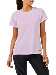 2Xu Xvent Short Sleeve Top Pink Rose