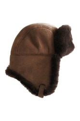 Australia Luxe Collective Raff Genuine Shearling Hat Brown