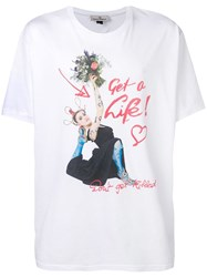 Vivienne Westwood 'Don't Get Killed' T Shirt White