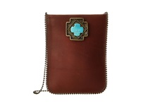 Leather Rock Cp36 Vintage Brown Amber Turquoise Handbags