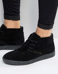 Religion Suede Chukka Trainers Black