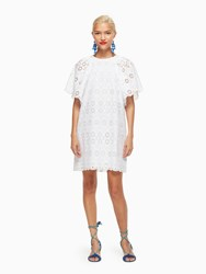 Kate Spade Eyelet Shift Dress Fresh White