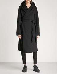 Drkshdw Draped Cotton Jersey Robe Coat Black