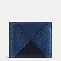 Coach 3 In 1 Wallet In Canyon Quilt Buffalo Embossed Leather Blue Multi