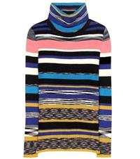 Missoni Wool Blend Turtleneck Sweater Multicoloured