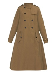 Kolor Oversized Cotton Blend Trench Coat