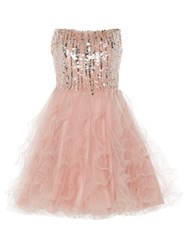 Anoushka G Cara Short Embellished Prom Dress Pink