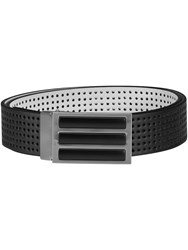 Adidas 3 Stripes Perforated Reversible Belt Black