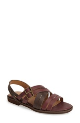 G.H. Bass 'Amidy' Leather Sandal Women Oxblood Cocoa