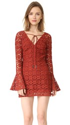 Free People Back To Black Mini Dress Terracotta