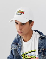 4ee00d1a81b Tommy Jeans Baseball Cap With Signature Logo In White