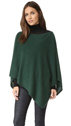 White Warren Cashmere Asymmetrical Poncho Emerald