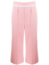 Red Valentino Flared Culottes Pink