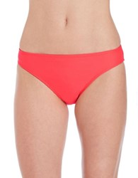 Adidas Beach Solid Hipster Bikini Bottom Shock Red