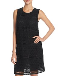 Gottex Pearl Goddess Crochet Dress Cover Up Black