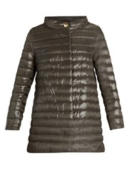 Herno Lightweight Quilted Down Jacket Brown