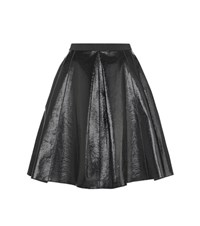 Marc Jacobs Coated Cotton Skirt Black