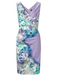 Ariella Blue Sally Printed Pencil Dress Lavender