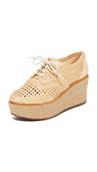 Schutz Jules Platform Oxfords Natural Light Wood