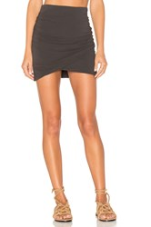 James Perse Wrap Skinny Skirt Charcoal