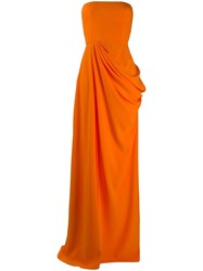 Alex Perry Ruched Side Front Slit Evening Dress 60