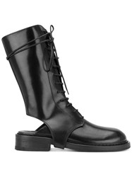 Ann Demeulemeester Heel Cut Out Boots Black