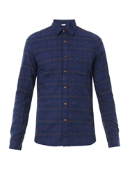 Folk Taped Cotton Flannel Shirt