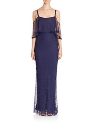 Jason Wu Cold Shoulder Lace Gown Dark Topaz
