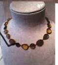 Bahina 18K Yellow Gold Necklace With Moonstone Beer Quartz Labradorite And Smokey Quartz Multi