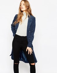 Noisy May Long Trench Coat Blackiris