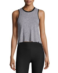 Koral Crescent Sleeveless Crop Top Gray