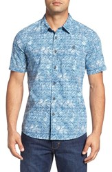 Quiksilver Men's Waterman Collection 'Mundaka' Print Short Sleeve Sport Shirt