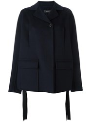 Joseph Short Button Coat Blue