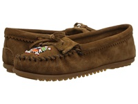Minnetonka Me To We Maasai Mocs Dusty Brown Women's Slippers