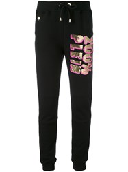 Philipp Plein 'Rosa' Track Trousers Women Cotton M Black