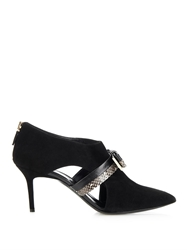 Nicholas Kirkwood Snakeskin Bow Suede Ankle Boots