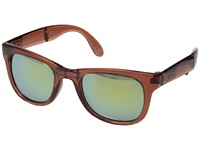 Vans Foldable Spicoli Shades Transparent Marsala Sport Sunglasses Brown