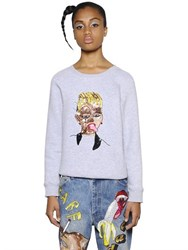 Ashish Embellished Zip Up Cotton Sweatshirt
