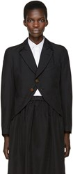Comme Des Garcons Black Twill Two Button Blazer
