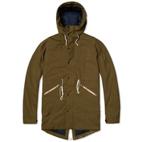Paul Smith Down Filled Fishtail Parka Olive