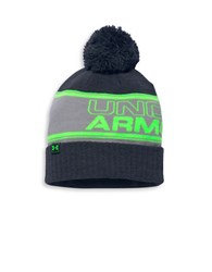Under Armour Ua Retro Pom Beanie Hat Stealth Gray