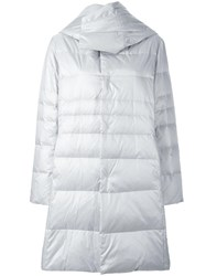Plantation Hooded Padded Coat Grey